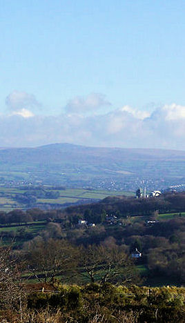 View over Chilsworthy and the Tamar Valley